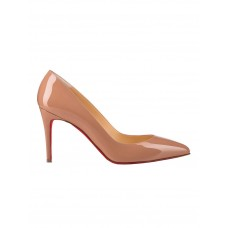 Women Christian Louboutin Nude Patent Leather Pumps  Winter NWHSHHF