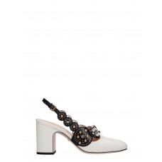 Women Gucci Pumps In White Leather business casual Winter YYHCTZD