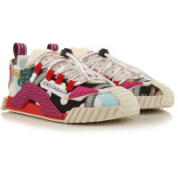 Dolce & Gabbana Women Sneakers Multicolor Extra Wide Fabric 2021 New BFKRC2401