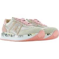 Premiata Women Sneakers Pink Running Leather, Nylon, Rubber most comfortable PHYYC2320