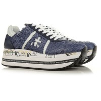 Premiata Women's Sneakers Blue Navy Extra Wide Leather The Most Popular NHVUZ2920