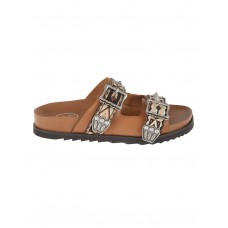 Women's Ash Ulysse Double Buckle Flat Sandals The Top Selling Winter KVKBRMS