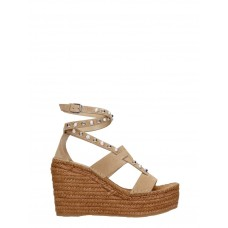 Women's Jimmy Choo Danica Wedges In Beige Suede good quality Spring XFJEGLV