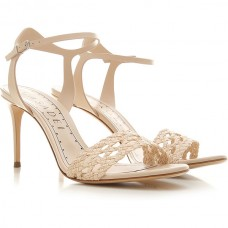 Casadei Women Heeled Sandals Nude Leather At Target LFNBL4605