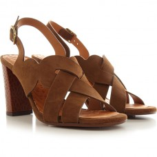 Chie Mihara Women's Heeled Sandals Brown Suede Leather Collection CMJBB6725