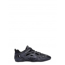 Women's Balenciaga Drive Sneakers In Black Leather And Fabric Size 12 Casual Winter HWTVNOU