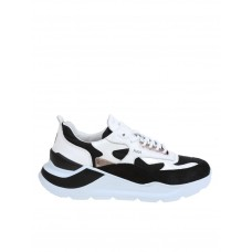 Women D.a.t.e. Black And White Leather Sneakers outfits Spring QYFTVLG