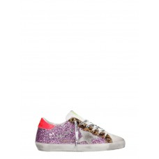 Women Golden Goose Superstar Sneakers In Fuxia Glitter on style GVWXCND