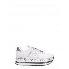Women Premiata Beth Sneakers In White Leather in style IFFHWAM