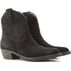 Ash Women Boots Black For Snow suede GOIAD8639