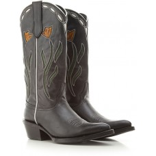 Ash Women Boots Black Leather in style LAHHB4534