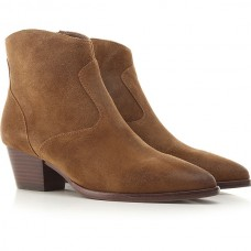 Ash Women's Boots Russet Extra Wide Suede Leather WUSHW4112