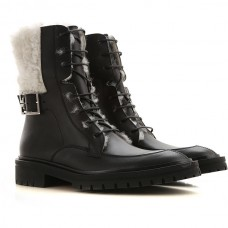 Givenchy Women's Boots Black Extra Wide Leather in style FCVVV8230