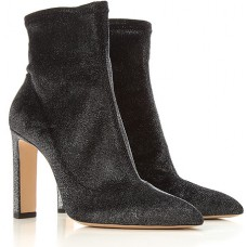 Jimmy Choo Women's Boots Anthracite Grey In Size 13 Velvet, Leather Best ZVFNV3269