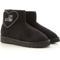 Moschino Women Boots Black Expensive Suede Leather wholesale EXMEQ6078