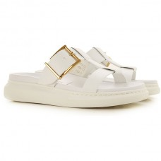 Alexander McQueen Men's Sandals White For The Beach Leather The Top Selling VJLGE2138