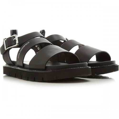 Karl Lagerfeld Men's Sandals Black Leather The Top Selling HDCBT7099