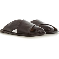 Marsell Men's Sandals Dark Brown For Wide Feet Leather Selling Well LIAKU6595