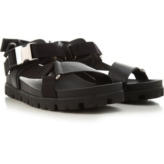 Prada Men Sandals Black Size 13 Wide Leather The Top Selling SUAZC8742