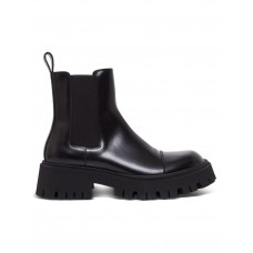 Men Balenciaga Tractor Boots In Black Leather Size 14 in style Fall BRXPAXR