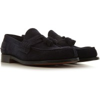 Church's Men's Loafers navy suede YOHCQ4154