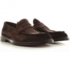 Doucals Men's Loafers Brown suede MPSEI2279