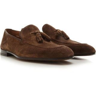 Doucals Mens Loafers Tobacco suede Near Me MGDXU1567