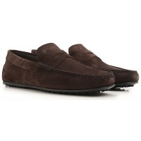 Tod's Men Drivers Dark Brown suede Fitted MFDOZ1236