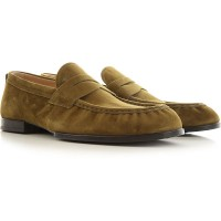 Tod's Men Loafers Musk Green suede Hot Sale EZHND7446