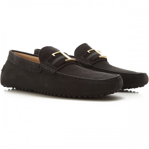 Tod's Mens Loafers Black Leather sale online HGIEE9805