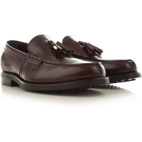 Tod's Men's Loafers Bordeaux Brown Leather Trends CNWKI4338