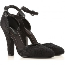 Dolce & Gabbana Women Pumps Black Comfortable Lace, Leather outlet NVOMB8900