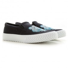 Kenzo Womens Slip-ons Black Canvas, Rubber WSWYF6178