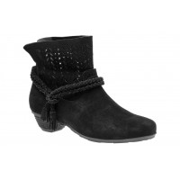 Nicole Neutral ABEO B.I.O.system Women's Black Suede Extra Wide Width outlet DJCI514