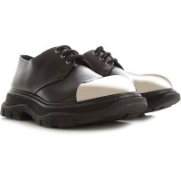 Alexander McQueen Mens Lace-ups Black Leather lifestyle CZFTF3421
