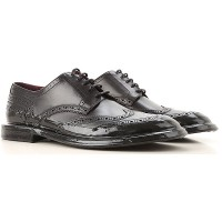 Dolce & Gabbana Mens Lace-ups Black Leather Clearance Sale PHQAK6700