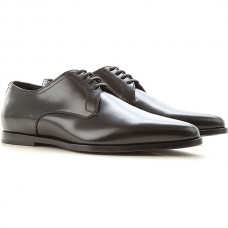 Dolce & Gabbana Men's Lace-ups Black Leather The Most Popular LWLUF7216