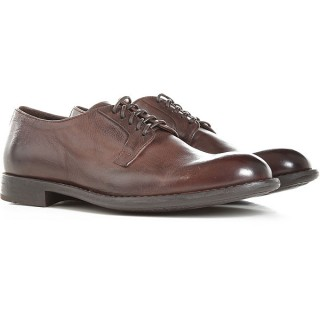 Doucals Men Lace-ups Dark Brown Calfskin Leather Lowest Price AIXCC1903