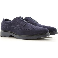 Hogan Men Lace-ups Blue suede Selling Well SDNRL1647