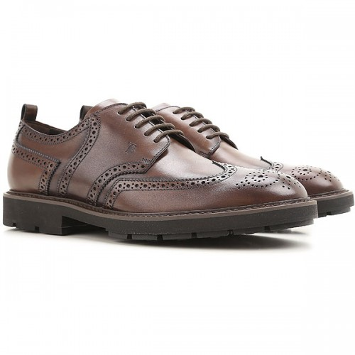 Tod's Men Brogues Cacao Leather New Arrival SZQZU7064
