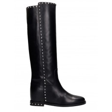 Women Via Roma 15 In Black Leather Extra Wide Spring NVVACYI
