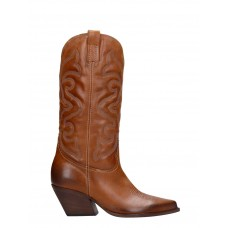 Women Elena Iachi Texan Boots In Leather Color Leather Extra Wide sale online Fall LVGPZSJ