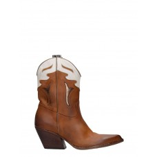 Women's Elena Iachi Texan Ankle Boots In Leather Color Leather Size 12 Wide sale online ZWFPCDF